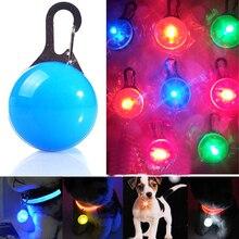 Pet светящиеся яркие светящиеся в темноте безопасности светодиодный светящиеся кулон собака Цепочки и ожерелья щенок кошка Ночник мигает воротником