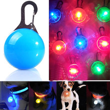 Pet Luminous Bright Glowing In Dark Safety LED Glowing Pendant Pet Dog Necklace Puppy Cat Night Light Flashing Collar(China)