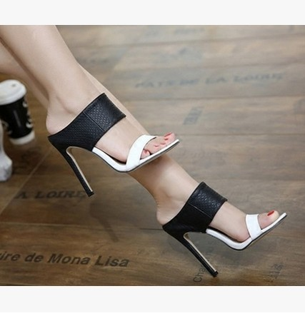 72115024a2cf High Quality Brand Designer White Black Shoes Patent Leather Studded Slingback  Heels Sandals Sexy Women High Heels Sandals Pumps