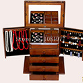 Wooden Box for Jewelry Packaging Jewelry Organizer Display Case Armoire Boite de Rangement