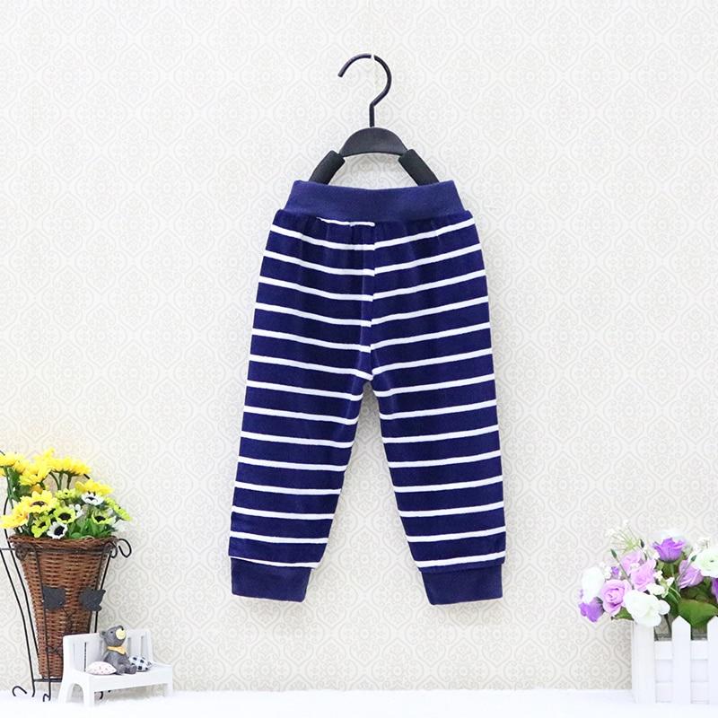 61b217c29e0b3 Bébé Garçons Vêtements 2019 Petit Q Mode garçon velours rayé pantalon  Automne long sport pantalon bébé ...
