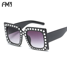Фотография FMY New Frame Crystal Sunglasses Women Fashion Ladies Oversized Square Sunglasses Mirror UV400 Party/Vacation/Shopping 66226