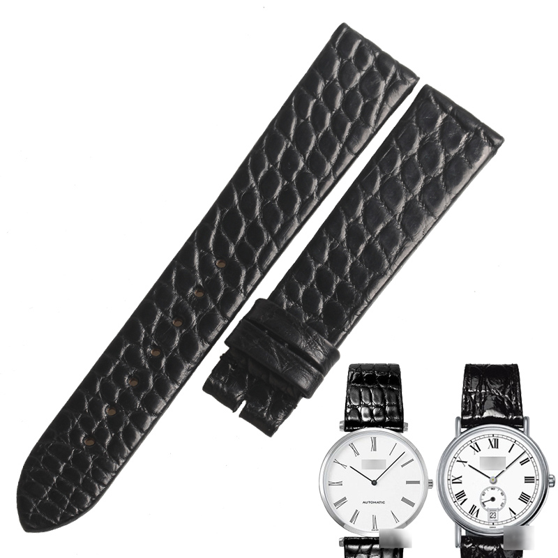 WENTULA watchanbands for  L4  L4.708/L4.209 alligator skin /crocodile grain watchbands Genuine Leather leather strap man woman