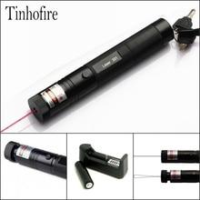Высокая мощность красный лазер 301 650 нм 5 МВт красная лазерная указка ручка масштабируемый лазерный фонарик с батареей и зарядным устройством