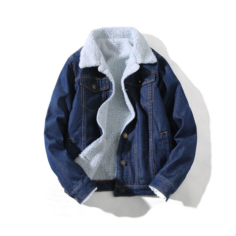 De Supérieure Bleu Boucle Simple Veste Homme D'hiver Revers Loisirs Cowboy Couleur Cachemire Manteau Qualité Cow Lâche Mode boy 2019 Pur HwECxqvv