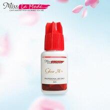 Misslamode M+glue eyelash extension low odor drying black glue eyelashes Professional suit sensitive people