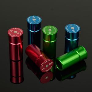 Image 1 - טקטי 2pcs אלומיניום ציד 12GA ירי הצמד כובעי תחמושת פגזים 12 מד אימון לשימוש חוזר ממוחזר ירי יבש