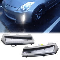 LED Daytime Running Light White DRL Front Bumper Reflector Fits For Nissan 350Z 06 09 Turn Siganal Light Yellow