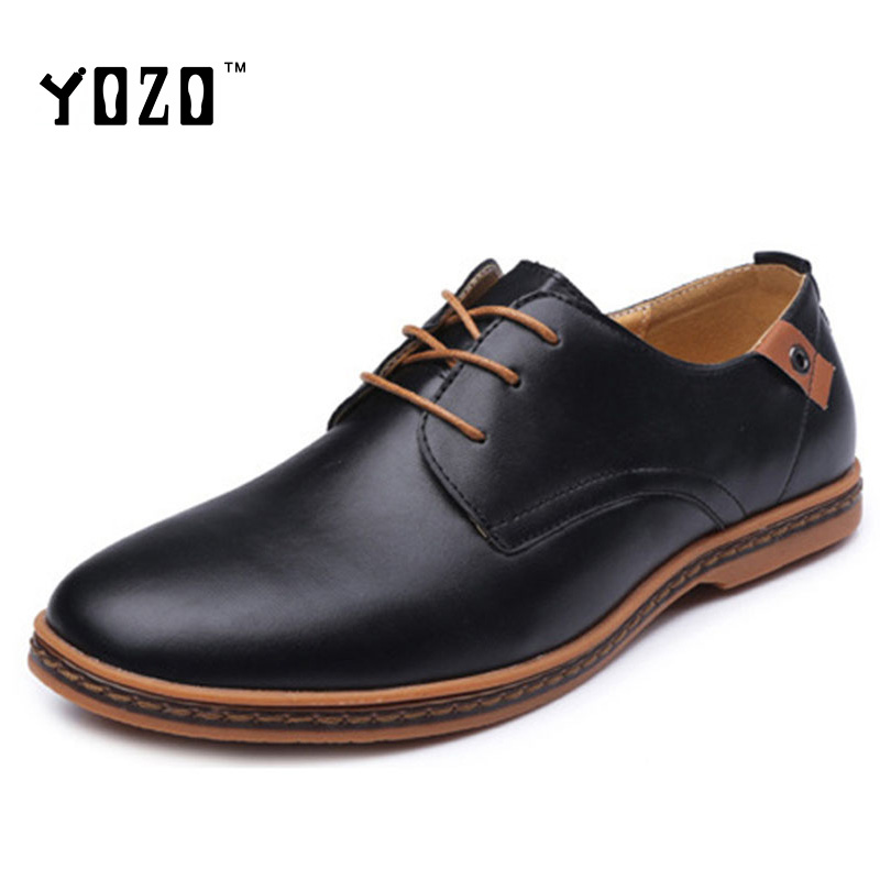 Big Size Men Shoes Fashion Luxury PU Leather Casual Flat Bullock Shoes Men Oxfords Shoes Brogue Brand Shoes Zapatos Hombre 2017