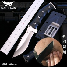 Watchman Knife Fixed Blade Straight knife Tactical knives with Kydex Hunting Survival EDC Tool Collection Factory sale MH133-A