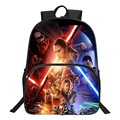 HENGFEI Brand Hot Sale 16 Inch Printing Star Wars Black Women Student Bag High Quality  Children School Bags Kids Baby Backpack
