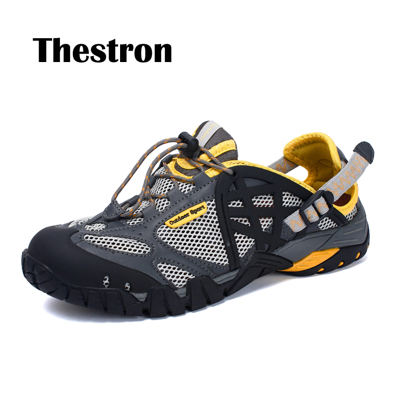 New store promotion Lovers Wading Shoes Summer Man Walking Shoe Outdoor Breathable Mesh Sneakers Water Shoe Hard Wear for Couple in Men 39 s Casual Shoes from Shoes