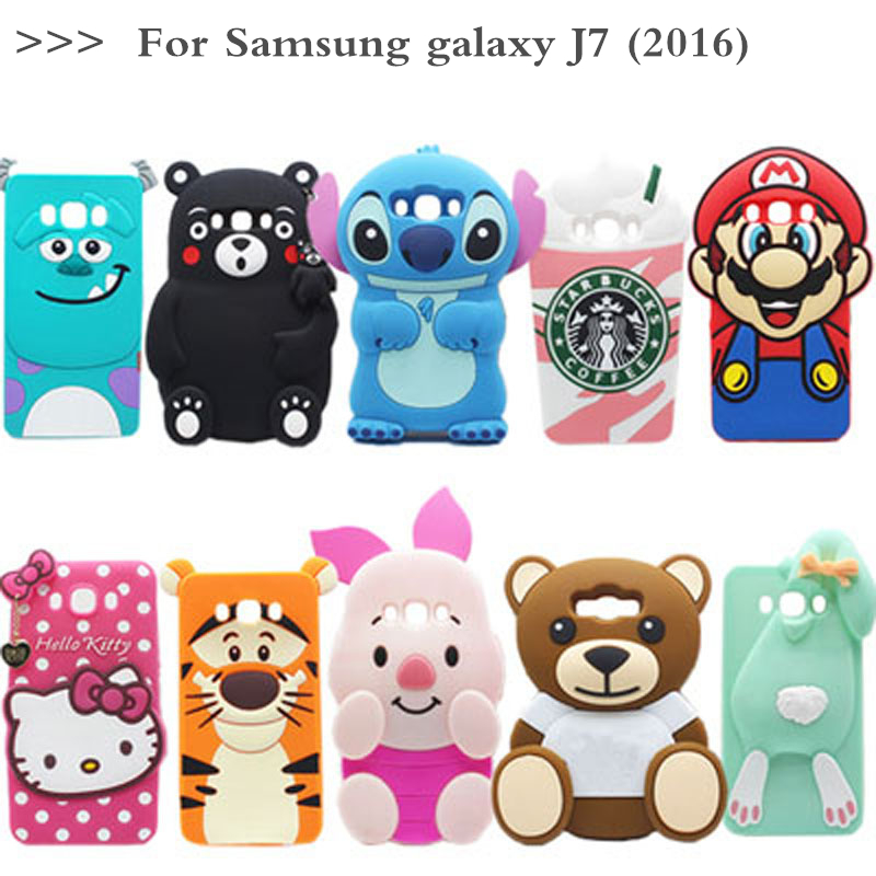 3d смазливая мультфильм гадкий я силиконовые case для samsung galaxy j7 (2016) sm-j710h j710 j710f j7100 приспешников case