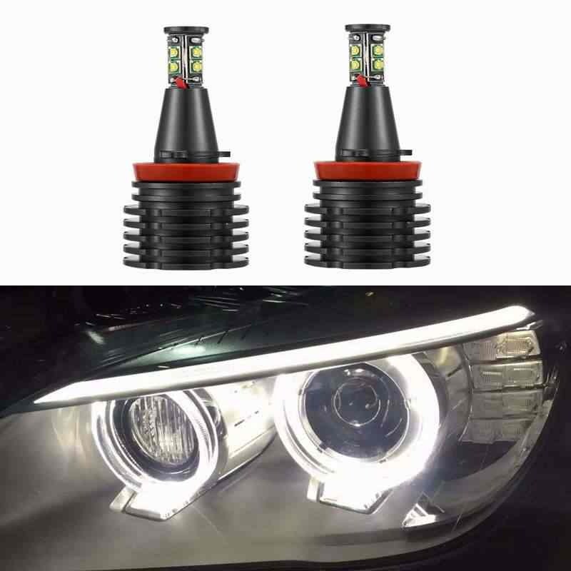 H8 Error Free 80W 6000lm for CREE Chips LED Angel Eye Marker Lights Bulbs For BMW  E90 E92 E82 E60 E70 X5 E71 X6 fog lights Head