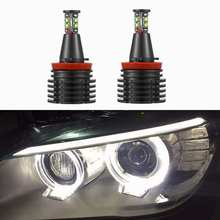 H8 Error Free 80W 6000lm for CREE Chips LED Angel Eye Marker Lights Bulbs For BMW E90 E92 E82 E60 E70 X5 E71 X6 fog lights Head(China)