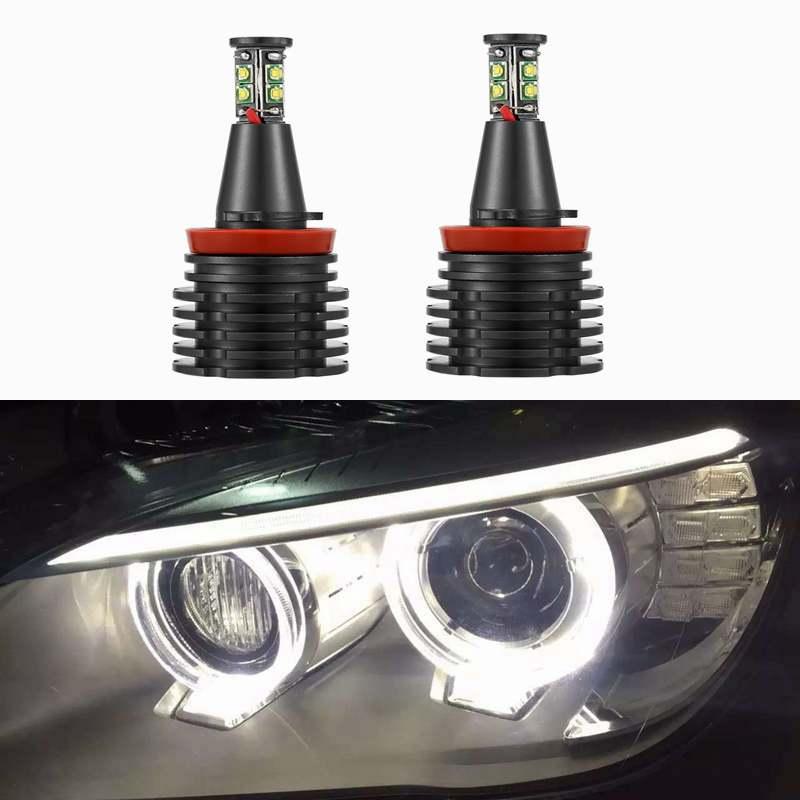 H8 светодиодный ошибок 120W 6000LM для CREE чипы Ангел глаз маркер светильник лампы для BMW E90 E92 E82 E60 E70 X5 E71 X6 Противотуманные фары Дневные Фары Светил...