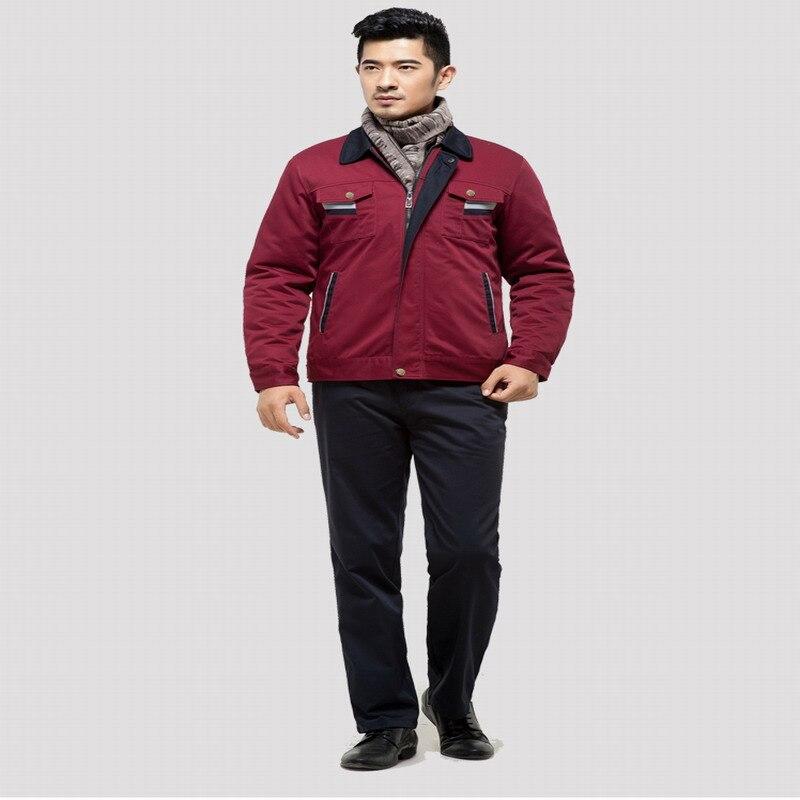 все цены на  Wadded jacket work wear cotton-padded jacket winter work wear cotton-padded jacket work wear   cotton overcoat  онлайн