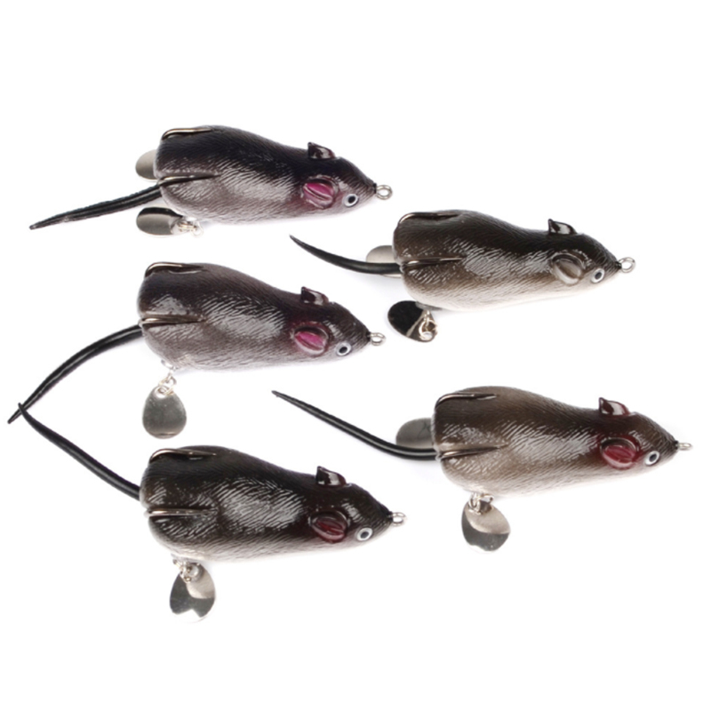 1Pcs Mouse Lure 7cm 17g Fishing Lures Double Hooks Frog With Spoon Artificial Crank Strong For Sea Tools Accessory