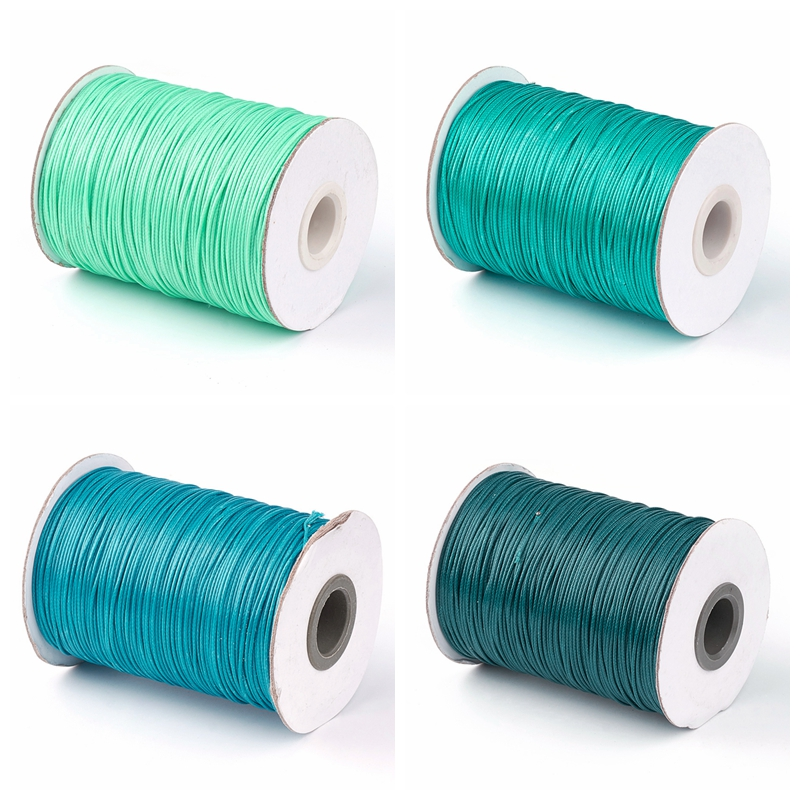 1.0mm Korean Waxed Polyester Cord Thread For Braided Necklace Bracelet Jewelry DIY Black Green Teal Camel About 93yards/roll