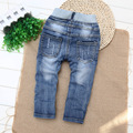 2016 New Enfant Garcon Boys Jeans Pants Baby Trousers Kids Ripped Jeans Fille Children 1-2-3-4 Years Old Jeans Enfant Garcon