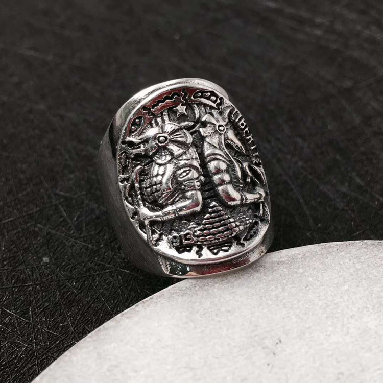 s925 pure silver rangers open domineering ring Thai silver COINS the ancient Egyptian god ring все цены