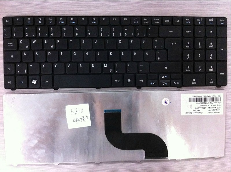 new for Acer Aspire 5740 5810T 5820 7735 7551 5336 5410 5536 5536G 5738 5738g 5810 5252 5742G 5742Z GR German laptop keyboard