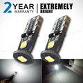 OGA 2 UNIDS SMD Brillante Estupendo 12 V T10 W5W 168 194 LED Del Coche Auto Liquidación Puerta de Lectura de Matrículas Lámpara Bombilla Con 2 Años de Garantía