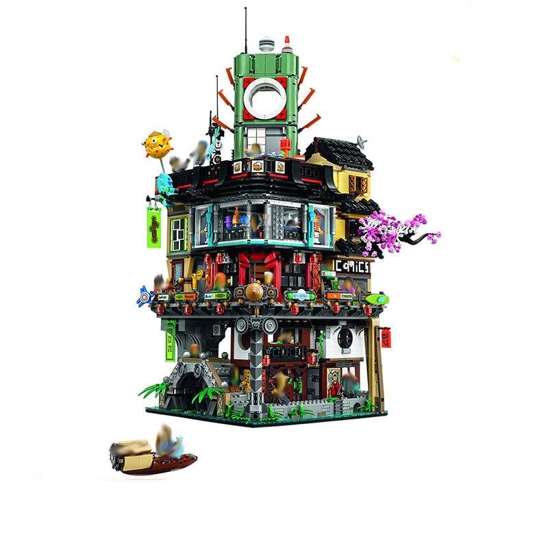 Lepin 06066 4953pcs Ninja Series Great Creator City Construction Modular Building Blocks Bricks Teenagers Toys Compatible 70620 ynynoo lepin 02043 stucke city series airport terminal modell bausteine set ziegel spielzeug fur kinder geschenk junge spielzeug