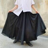 Men Japan Dark Black Loose Long Skirt Pant Male Streetwear Punk Gothic Harem Pant Lovers Clothing