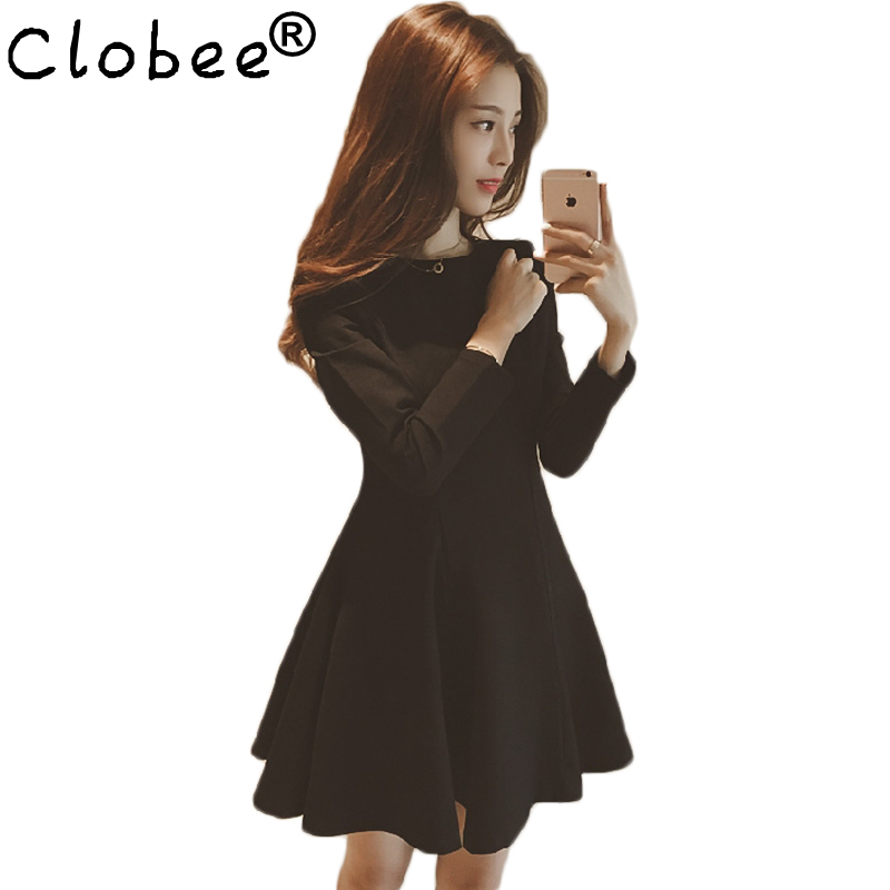 2018 Summer Spring Slim A-line Black Dress Women Plus Size Elegant Sexy Office Dress Evening Party Vestidos Robe Club Dresses