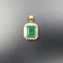 Lii Ji 18 K or 2.2Ct pendentif diamant émeraude(China)