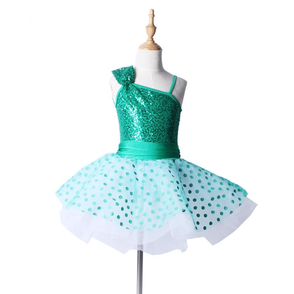 Vaikų naujo rudens taško globa Pettiskirt suknelė Baleto šokių suknelė Praktikos etapas Apranga šokių kostiumai mergaitėms