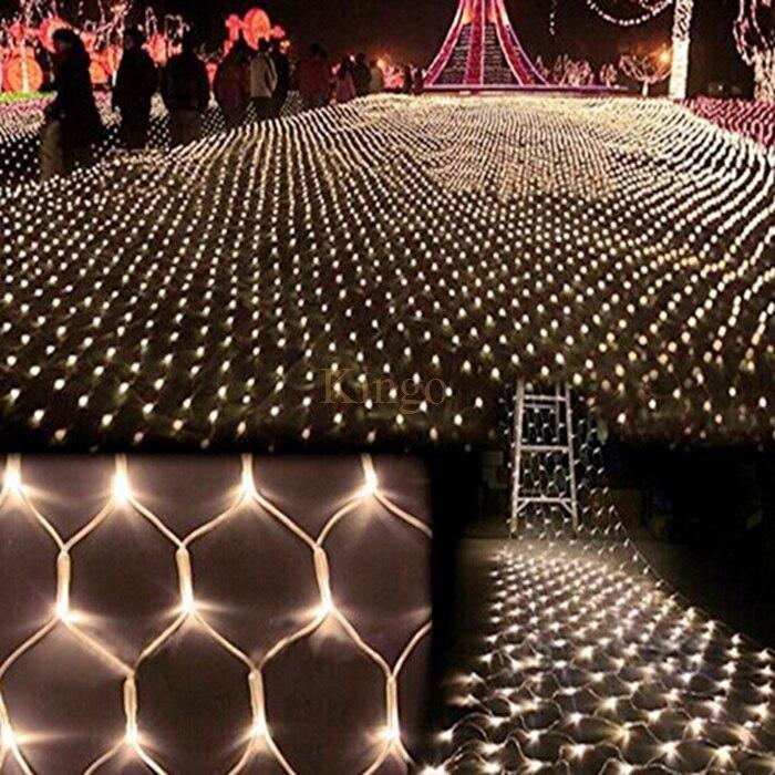 Новая светодиодная сетка Рождество огни 3x2 м 204 светодиоды 4 цвета на выбор Открытый 110 В/220 В США/ЕС Plug Водонепроницаемый чистый свет быстрая доставка