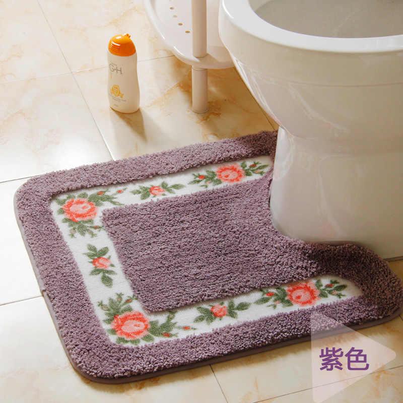 1 шт. коврик для ванной комнаты напольный туалетный коврик коралловый бархатный мягкий коврик для ванной ковер для ванной комнаты Туалет