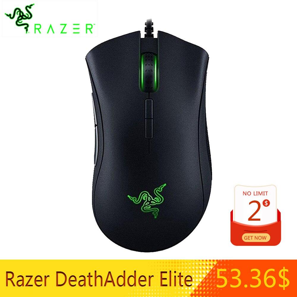 Razer DeathAdder Elite Filaire Gaming Mouse 16000 DPI capteur optique Ergonomique 7 Indépendamment boutons programmables Souris