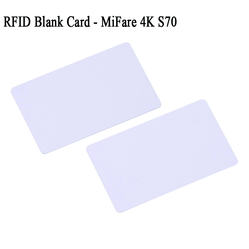 mifare 4k s70 13.56mhz rfid card blank white large memory size 14443a blanks MF classic 4k cards