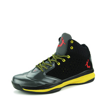 2016 Men Sneakers Black and Yellow Basketball Boots Indoor Basketball Shoes free shipping