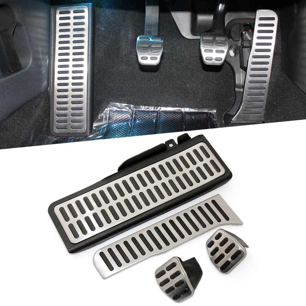 VCiiC Stainless Steel Pedal Pads Foot Rest for Skoda Octavia A5 For Volkswagen  VW Golf 6 Jetta MK5 Scirocco Tiguan 2015-in Pedals from Automobiles & Motorcycles