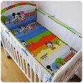 ¡ Promoción! 5 UNIDS 3D de Malla Transpirable Niños Conjunto de ropa de Cama de Parachoques, baby bedding set hoja de cama bumpers, incluye (4 bumpers + hoja)