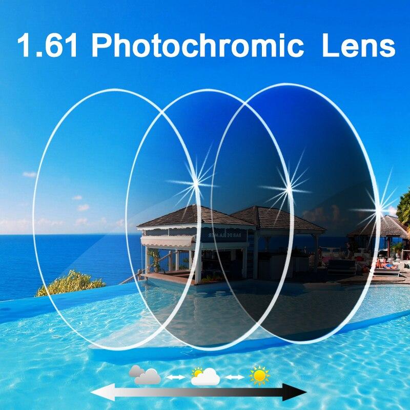 Coating Photochromic Lenses 1 61 High Index Single Vision Aspheric Prescription Lens Anti Radiation UV Color