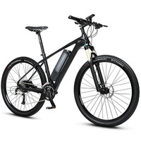 27 5inch Power Assisted Cyclearbron Fiber Electric Mountain Bike Hybird Ebike Super Light Off Road Bike