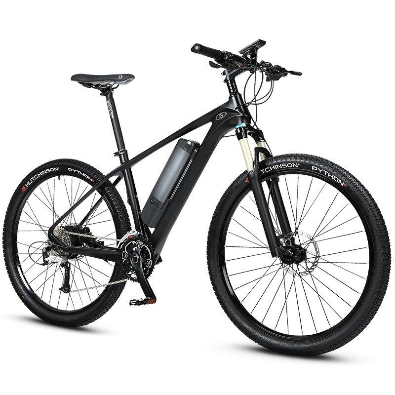 27.5 pouces carbron fibre électrique VTT assistée hybride ebike Super léger hors route Ebike intelligent PAS de vélo en fibre de carbone