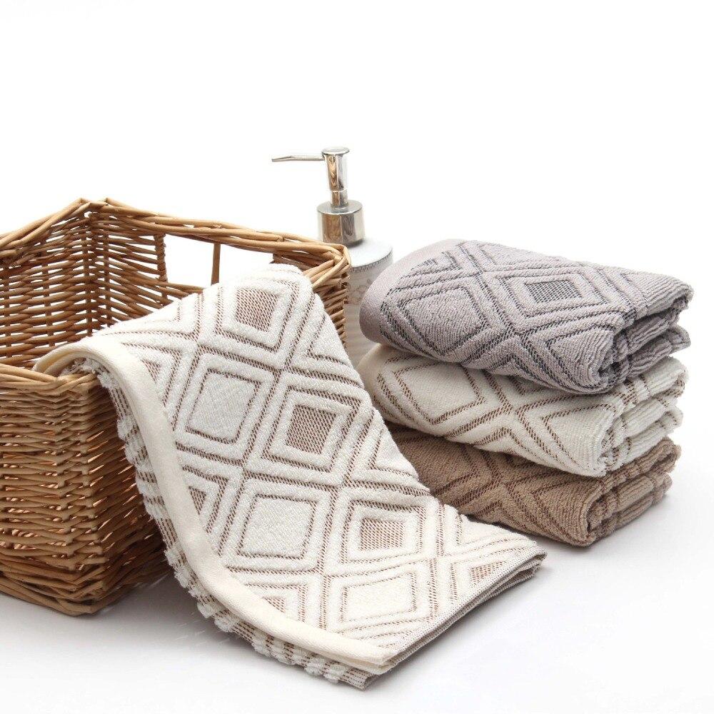 1 stks 33 * 74 cm Mannen Plaids Zachte Gezicht Handdoek Katoen Haar - Thuis textiel