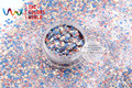 HH2104-219 Mix  Colors Hexagon Shape Glitter Sequins for nail art  DIY decoration and Halloween's decorations