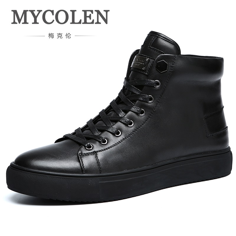 MYCOLEN Spring/Autumn Genuine Leather Men Boots Handmade Super Warm Men Shoes High Quality Ankle Boots Botas Militares Hombre 2017 spring autumn breathable white wild men casual shoes 100% handmade pigskin leather comfort men shoes high quality size40 44