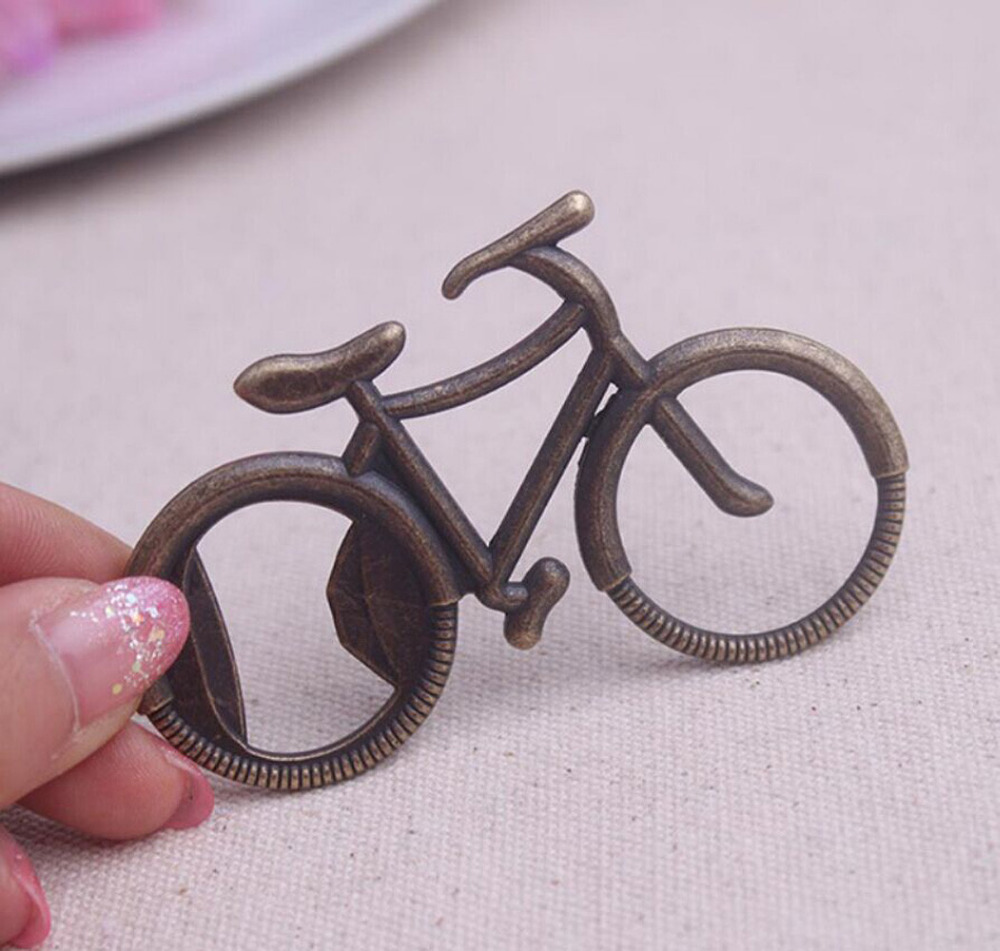 Bottle Opener Bicycle Shape Alloy Beer Wine Can Jar Openor Tool Wedding Party Birthday Creative Favor Gift Souvenirs F419