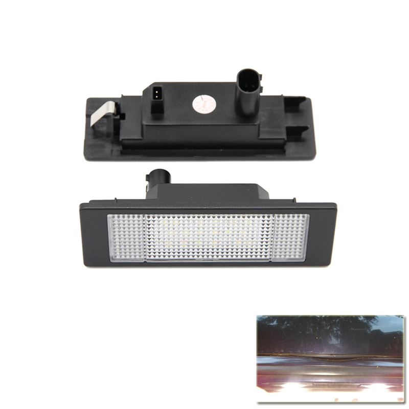 Replace OEM# 63262755711 For Mini Cooper R55 R55N R60 R61 Rear Led Number License Plate Light Lamp Canbus Error Free 2x led car styling canbus no error code license plate lamp for smart fortwo rear number plate light auto accessory