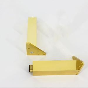 Image 3 - 4 ชิ้น/ล็อตทองโลหะขาโซฟาทีวีตู้สแควร์ขาเฟอร์นิเจอร์โลหะขาตู้ตารางฟุต