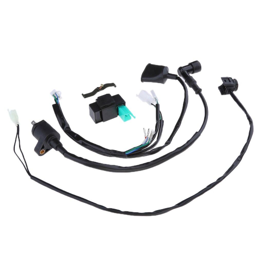 Arns Cableado Interruptor De Desconexin Bobina Encendido 5 Pin Wiring Loom Harness Kill Switch For 50cc 110cc 125 140 150 160cc Pit Ignition Coil Cdi 125cc 140cc Dirt
