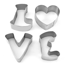 TTLIFE Love Letter Cookie Cutter Stainless Steel Biscuit Mold Pastry Confectionery Decorating Tools Sugarcraft Bakeware Moulds